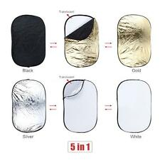 """24""""X36"""" 60X90CM 5 in 1 Folded Multi Collapsible Photo Light Reflector Disc Q6FE"""