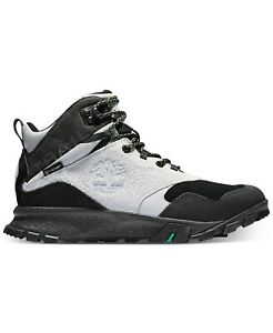 Timberland Garrison Trail Men Waterproof Mid Hiking Boot US 12M Light Grey Suede