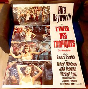L'enfer des tropiques - Rita HAYWORTH / Robert MITCHUM - Affiche Cinéma (120x160