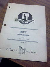 White Diesel Tractor~2-45~2-62 Shop Service~Repair Manual~White I&T~Wiring