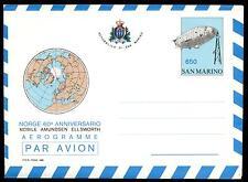 SAN MARINO - Aerogrammi - 1986 - NORGE - 60° DEL VOLO SUL POLO SUD