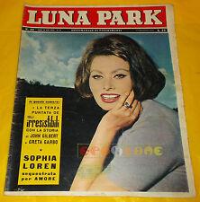 LUNA PARK 1962 n. 20 Sophia Loren, John Gilbert, Romy Schneider