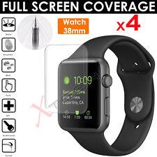 4x FULL SCREEN Curve TPU Screen Protector Covers Apple Watch 38mm - Series 3
