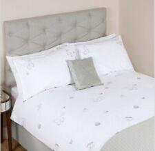 Brand New Laura Ashley Pillowcase Butterflies Embroidered Silver Pillowcase