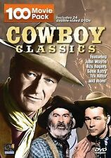 Cowboy Classics - 100 MoviePack (DVD, 2008, 24-Disc Set)USED- FREE SHIPPING