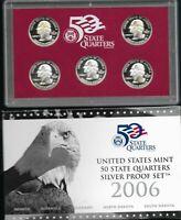 "2006 S United States Mint ""50 State Quarters"" Silver Proof Set w/CoA & Box"