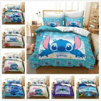 3D Customized Disney Stitch Bedding Set Duvet Cover Pillowcase Without Comforter