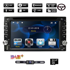 "6.2"" Car GPS Nav 2 DIN Stereo MP3 DVD Player Bluetooth Radio iPod TV USB +Camera"