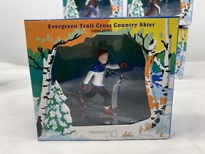 Department 56 Skier Ornament Cross Country Evergreen Trail Retired