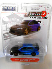 Rare Blue Variation Jada 2002 Mitsubishi Lancer Evolution 7 Jdm Tuners 14036