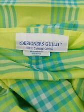Designers Guild Italian 100% cotton colorful plaid pillow case