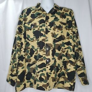 Vintage Camouflage Shirt 2XLT Charles Alexander Hunting Flap Pockets Made In USA