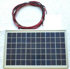 New 10w PV Solar Panel c/w 3m cable for Charging top 12v Battery system CE UK