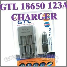 GTL 18650 123A CR-123A LR-123A battery charger new