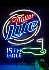 "Miller Lite 19th Hole G 00001968 olf Neon Sign 20""x16"" Bar Pub Beer Light Lamp Gift"