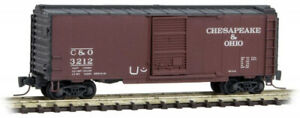 Micro-Trains MTL Z-Scale 50ft SD Box Car Chesapeake & Ohio/C&O (Hobo Tagged)