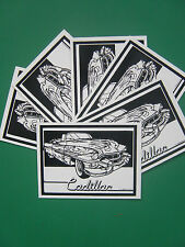 Velvet colouring cards, 6 art pictures, Cadillac car, ideal party bag