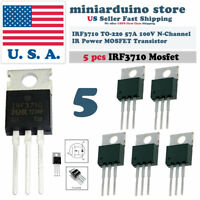 5pcs IRF3710 IRF 3710 N-MOSFET 57A 100V TO-220 IR Transistor N-Channel