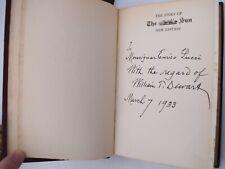 O'Brien THE STORY OF THE SUN Appleton 1928 con Dedica Autografa William Dewart
