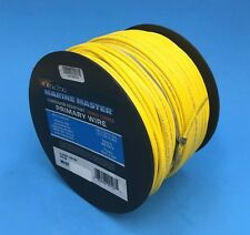 DEKA 14 AWG YELLOW Marine Tinned Copper Boat Wire Cable 100 Feet Made in USA
