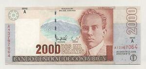Costa Rica 2000 Colones 30-7-1997 Pick 265.a UNC Uncirculated Banknote