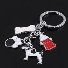 HJ String Dog Foot Bone Keyring Bag Keychain Alloy Jewelry Creative Pendant Gift