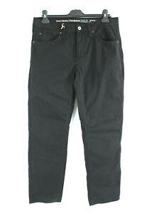 MUSTANG BNWT Black Slim Fit Straight Leg Mid Rise Men Denim Jeans Size W33 L32