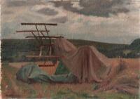 ARTHUR WEAVER (1918-2008) Oil Painting On Board CORNFIELD LANDSCAPE c1960