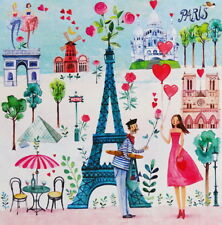"Mila Marquis*Postkarte 14x14 Lack ""Frau in Paris""Eifelturm Grußkarte Sommer 2018"
