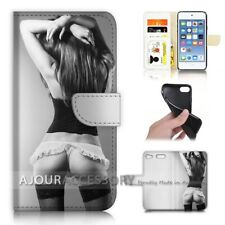 ( For iPod Touch 6 ) Wallet Flip Case Cover AJ40141 Sex Girl