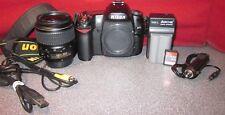 Nikon D80 10.2MP Digital SLR Camera - Batt & Charger- S Count:2112 -Lens -8253