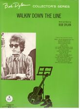 "BOB DYLAN ""WALKIN' DOWN THE LINE"" SHEET MUSIC-COLLECTOR'S SERIES-1965-RARE-NEW"