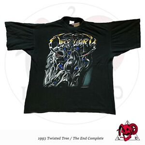 VINTAGE 1993 OBITUARY - TWISTED TREE/END COMPLETE SHIRT RARE DISMEMBER ASPHYX