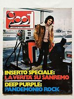 VERY RARE CIAO 2001 9-1971 SANREMO-DEEP PURPLE-SINGAPORE-TOM WOLFE-ELVIS PRESLEY