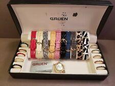 Gruen Watch Set 21 pc Womens Changeable Bands & Bezels Never Worn