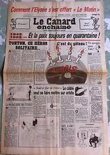 """Le Canard Enchainé 8/05/1985; Comment l'Elysée s'est offert """"Le Matin"""""""