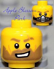 NEW Lego Male MINIFIG HEAD Galaxy Squad w/Silver Breathing Mask & Brown Beard