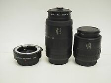 SMC PENTAX-F 35-80mm & 80-200mm CAMERA LENSES + PROMASTER SPECTRUM 7