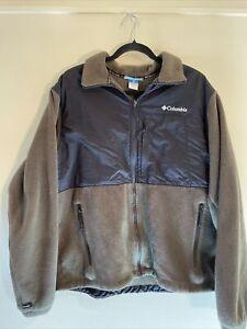 COLUMBIA Interchange Zip In FLEECE Liner Jacket Coat Mens L Large
