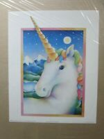 MOONLIGHT BY LYNNE DENNIS UNICORN VINTAGE POSTER CNG431