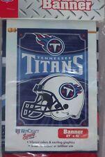 """Tennessee Titans Vertical Banner Flag  27"""" X 37""""  NIP"""