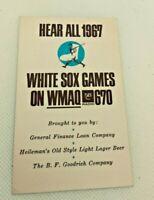 1967 Chicago White Sox Baseball Schedule Heilmann Beer & B.F. Goodrich Tires #e
