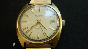 Vintage 1970s Bulova Gold-Plated Automatic 23 Jewels Gents Watch