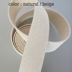 """Canvas 2"""" inch 50mm Bag Strap Tape Webbing Belt Wide Cotton Strong Upcycle"""