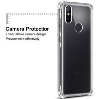 Protector Case Cover for Mi Max 3 Shockproof + Tempered Glass Screen clear Film