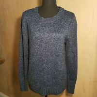 St Johns Bay Women's Navy Blue Sweater Crew Neck Long Sleeve Size L