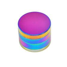 Rainbow 4 Layers 63mm Hand Crank Crusher Grinder Pollinator Magnetic teeth