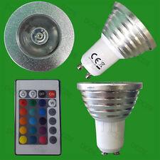 3W Remote Control RGB Colour Changing LED Spotlight Light Bulb GU10 Party Lamp