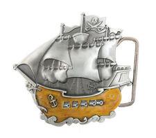 Pirate Ship Boat Enamel Metal Belt Buckle