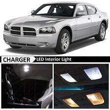 10x White Interior LED Light Package Kit for 2006-2010 Dodge Charger + TOOL